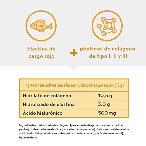 Colágeno con elastina y ácido hialurónico - Péptidos de hidrolizado de colágeno de tipo I, II y...
