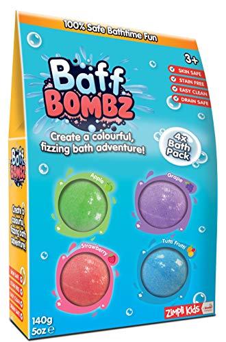 Zimpli Kids 6077 Baff Bombz, Grün, Lila, Blau, Rot