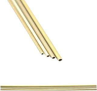 Eowpower 4Pcs Metal Copper Brass Round Tubes, Diameter 1.2mm, 1.4mm, 1.6mm 1.8mm Length 12 inch