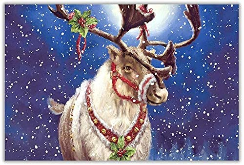 RUNNING Christmas Reindeer Tin Sign Painting Bar Pub Garage Diner Cafe Home Wall Decor Home Decor Art Poster Retro Vintage Metal Tin Sign 8x12 inch