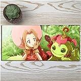 DMWSD Caracteres alfombrillas de ratón bolsos de mano de Digimon Adventure animado juego TACHIKAWA MIMI Palmon gran tamaño antideslizante juego profesional alfombrilla de ratón for periféricos de PC d
