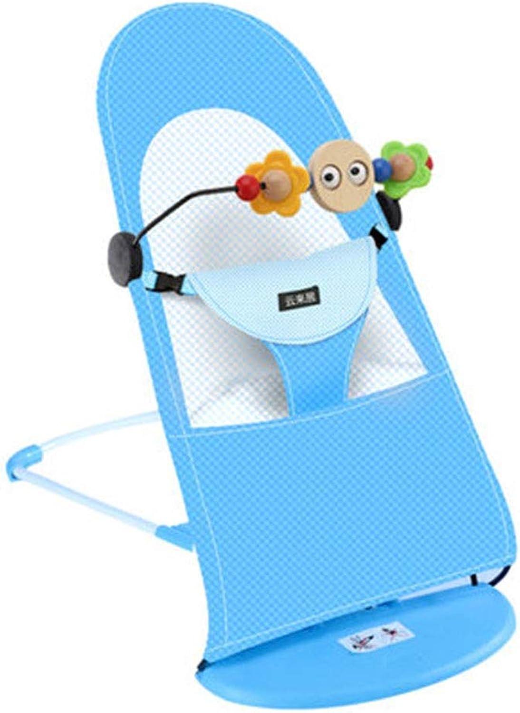 YongFeng Baby rocking chair cradle, baby sleepy artifact ( color   bluee )