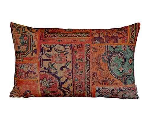 """beties """"PersischPatch"""" Kissenhülle ca. 30x50 cm 100% Baumwolle marokkanischer Wohnstil in der Farbe abendrot"""