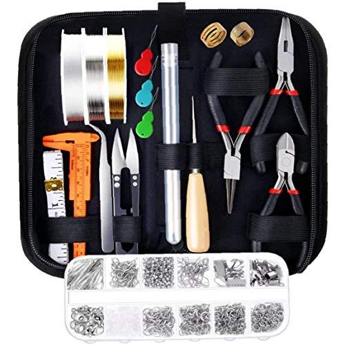 Bricolaje de Cuentas Material Suministros joyería Que Hace el Kit con los hallazgos Cables de Joyas de reparación de joyería Rebordear