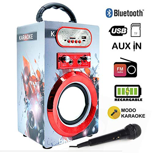Altavoz Karaoke Micrófono Altavoz Bluetooth Karaoke