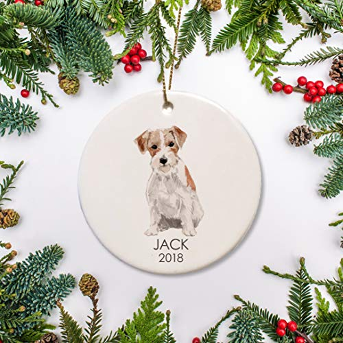 Lplpol Jack Russell Dog Christmas Ornament Personalized Ornament Jack Russell for Dog Lover Dogs 1st Christmas Family Dog Gift