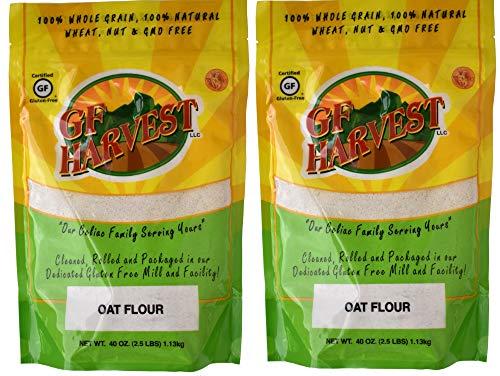GF Harvest Gluten Free Whole Grain Oat Flour, 40 Oz. Bag, 2 Count