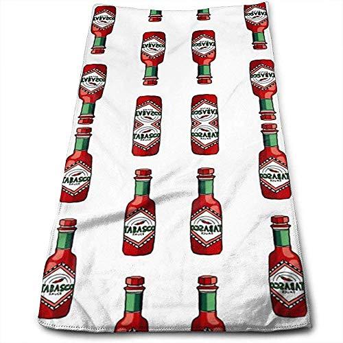 MJDIY Badhanddoek, Tabasco Saus Premium Volwassen Strandhanddoeken voor Thuisdecoratie