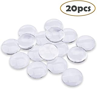 Efivs Arts 20 pcs Transparent Glass cabochons, Clear Glass Dome Tile Cabochon Half Round Flat Clear 1.57 inch (40mm) Non-calibrated Round for Photo Pendant Craft Jewelry Making Thanksgiving Crafts