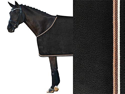 Isabell Werth Fleece Abschwitzdecke schwarz- braun Größen Pferd 145