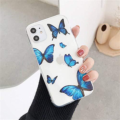 Funda para iPhone 11 pro max xs max xs xr 6s 6 7 8 plus se 2020 5s 5 transparente floral de dibujos animados de silicona suave TPU cubierta protectora, para iphone 11 pro