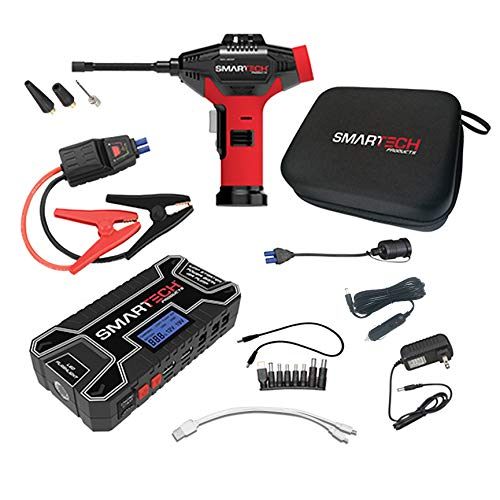 Affordable Smartech TECH-5000P Automotive Emergency Power Kit & Jump Starter, 6-Way Functionality, J...