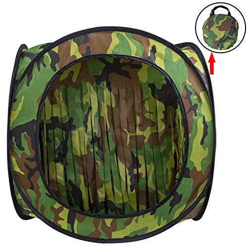 wingswinmax Foldable Airsoft Target Tent Trap Slingshot BB Trap Net Auto Pop-up Shooting Target Tent BB Target Holder Case