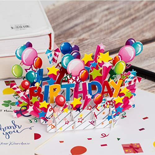 DKT Handmade Happy Birthday Pop Up Card, Birthday Pop up Cards, Popup Birthday Card, 3D Card, Birthday Cards, 3D Birthday Greeting Card, Birthday Pop Up Card, 3D Birthday Card, Birthday Greeting Cards