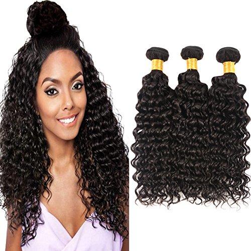 Huarisi Cheveux profond bouclé Brésilien paquets 16 18 20 pouces cheveux virginal extensions 3 pièces mélangé longueur cheveux naturelle tissages grade 8a