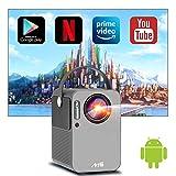Android TV搭載 モバイルプロジェクター 小型 Artlii play WiFi スマホに直接接続 Bluetooth機能 1080p対応 ポータブル 持ち運び 内蔵スピーカー 4D台形補正 3年保証