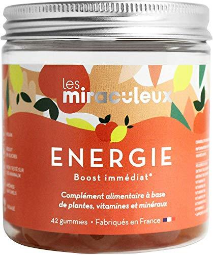 Les Miraculeux - Energía - Bonbones Gummies - Suplemento Alimenticio Natural Vegano - Guaraná, Ginseng, Gogi, Vitamina C - Cura de 21 días (2 gomitas por día)