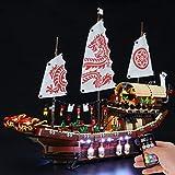 BRIKSMAX Kit de iluminación LED Lego Ninjago Recompensa del Destino - Compatible con Lego 70618 Building Blocks Model- No incluir el Conjunto de Lego ( Versión de Control Remoto )