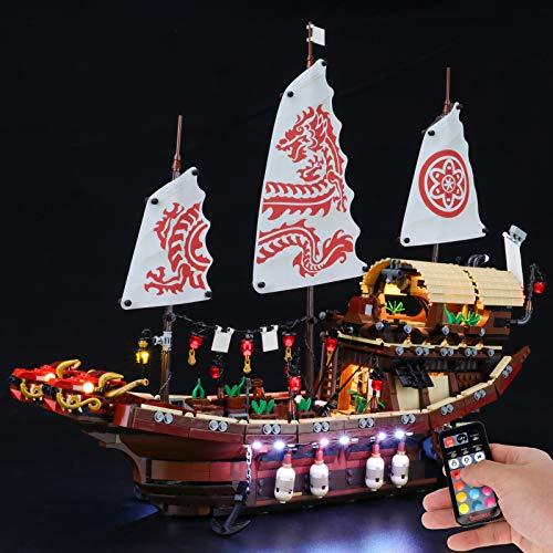 BRIKSMAX Led Beleuchtungsset für Lego NINJAGO Die Prämie des Schicksals - Compatible with Lego 70618 Bausteinen Modell - Ohne Lego Set ( Fernbedienungsversion )