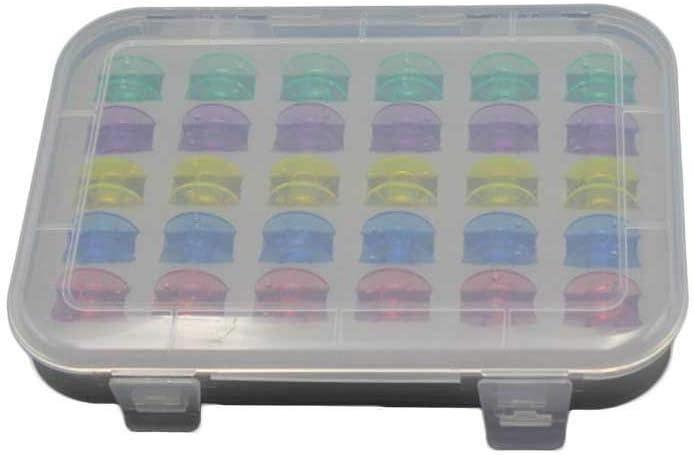 HDHUIXS Cómodo Máquina de Coser Axis Box 30 Bobinas Coloridas Paquete Hogarizado Almacenamiento centralizado Transporte vacío Treques .Compatibilidad (Color : Bobbin Storage)
