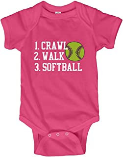 Crawl, Walk, Softball: Infant Bodysuit