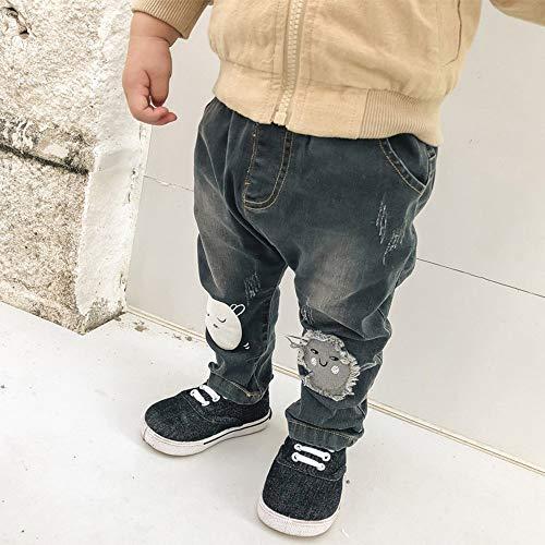 AKDYH Lunch Box Lange Zuigelingen Jongen Broek Elastische Taille Katoen Baby Jeans Volledige Lengte Broek Pasgeboren Cartoon Mid Spring Broek