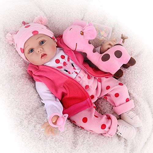 CHAREX Reborn Baby Dolls, 22 inches Newborn Lifelike Soft Silicone Baby Dolls, Weighted Toddler Girl