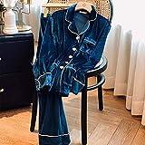 N-B Gem Velvet Series Pyjamas Femmes Automne Et Hiver Simple Air Chaud Service À Domicile Costume À Manches Longues Peut Sortir