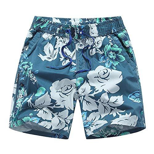Traje de baño de secado rápido Pantalones cortos de playa a prueba de agua Pantalones cortos casuales Troncos de natación con troncos Pantalones cortos de playa impresos secos Cintura elástica