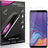 SWIDO Panzerglas Schutzfolie kompatibel mit Samsung Galaxy A9 (2018) Bildschirmschutz Folie & Glas = biegsames HYBRIDGLAS, splitterfrei, MATT, Anti-Reflex - entspiegelnd