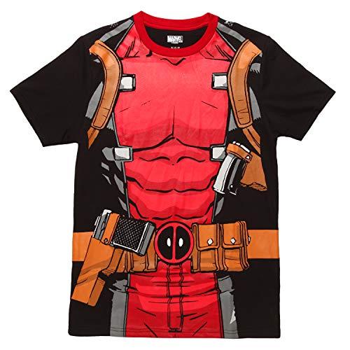 Marvel Comics Character Costume Adult T-Shirt - Deadpool (X-Large)