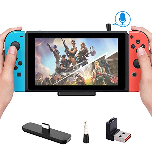 Gulikit Bluetooth Adapter for Nintendo Switch&Switch Lite, Support in-Game Voice Chat, Dual Stream Bluetooth Wireless Audio Transceiver with aptX LL, Connect Your AirPods Bluetooth Headphone Speakers