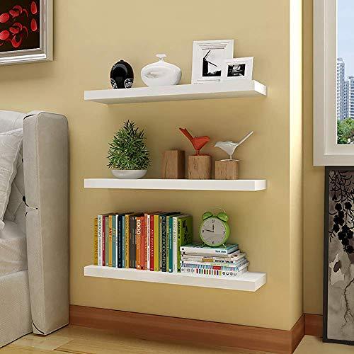 aimu Mensole galleggianti da parete, mensole per camera da letto, soggiorno, cucina e molto altro ancora, accessori e elementi di fissaggio inclusi, bianco