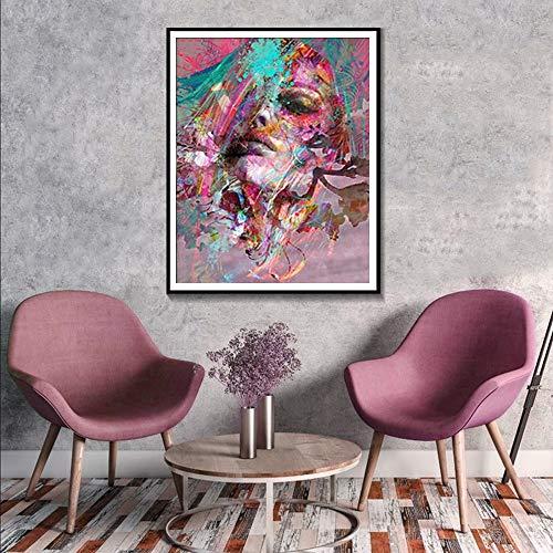 KWzEQ Pintura sin Marco Murales Abstractos Carteles e Impresiones decoración del hogar Pintura de la Acuarela Pintura al óleo Moderna Lienzo de arteAY7114 30X40cm