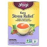 Yogi Tea Kava Stress Relief - Caffeine Free - 16 Tea Bags - 100% Natural - Herbal Tea Supplement
