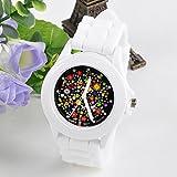 IEason,Fashion Silicone Rubber Jelly Gel Quartz Analog Sports Women Wrist Watch (White)