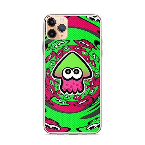 Beamm-Frost Compatible with iPhone 11 Pro Case Splatoon Inkling Squid Symbol Shooter Game Pure Clear Phone Cases Cover