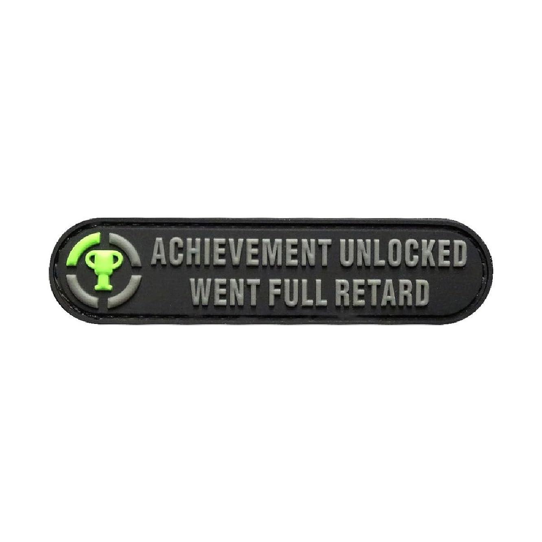 Achievement Unlocked Went Full Morale PVC Patch (PVC-3.5 X 0.75) mgschlnxh559568