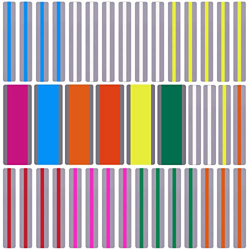 Duufin 40 Pieces Reading Guide Strips Highlight Reading Strips Colored Overlay Bookmark Reading Tracking Rulers for Dyslexia Children and Teacher