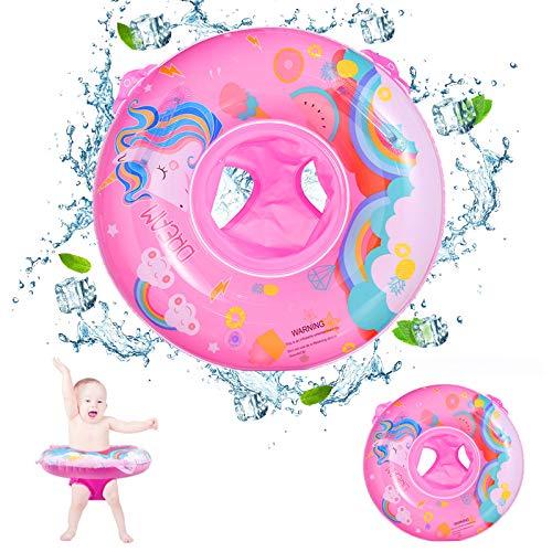 Flotadores Bebe, Anillo de natación para bebé, Anillo de natación Asient, Lindo Patrón Barco Inflable Flotador para 6-36 Meses Niños (Rosa)