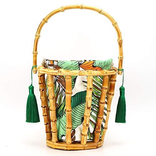 Bolso de bambú, elegante ligero ligero del bolso de bambú durable de playa para el almacenamiento
