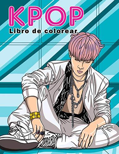 KPOP Libro de colorear: Una colección de retratos y escenas de baile de los ídolos de Kpop