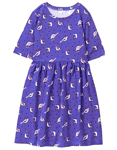 Gymboree Girls' Little Easy Printed Dress, owl, XS