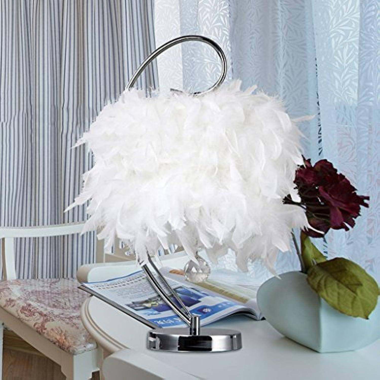 CivilWeaEU- Kreative Pers5onlichkeit Kristallfeder leuchtet Schlafzimmer Nachttischlampe Einfache moderne Hochzeit Lampe