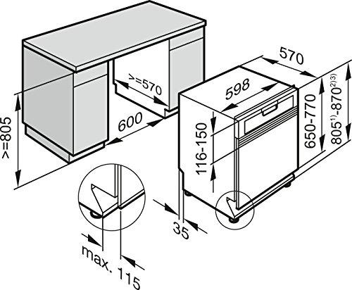 Miele G6200 Sci D ED230 2,0 clst Geschirrspüler Teilintegriert - 3