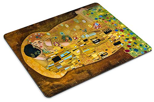 Smooffly Computer Mouse Pad Custom,Gustav Klimts The Kiss Mousepad Non-Slip Rubber Gaming Mouse Pad Rectangle Mouse Pads Photo #4