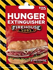 This card may only be used for purchases at Firehouse Subs locations in the 50 United States. Redeemable in-store only It's the perfect gift for any occasion. No returns and no refunds on gift cards.