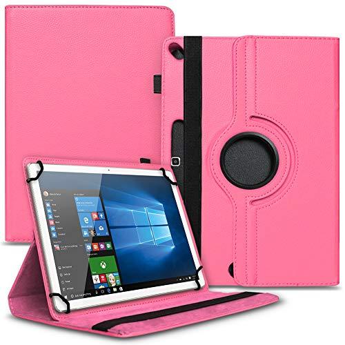 Tasche Hülle kompatibel für Archos 101b Oxygen Tablet Cover Schutz Hülle Schutzhülle 360° Drehbar, Farbe:Pink