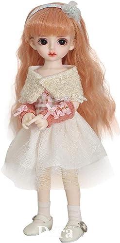1 6 BJD SD Puppe 10 Zoll 26 cm Spielzeug 19-Jointed Body Cosplay Modepuppen mit Allen Kleidung Outfit Schuhe Perücke Haar Make-Up Geschenk Sammlung 26 cm