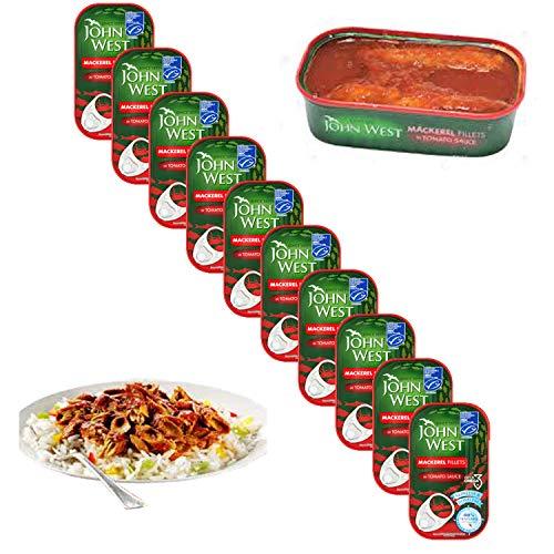 John West - Filetti di sgombro in salsa di pomodoro, confezione da 10